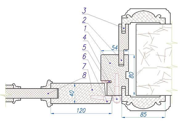 схема двери из массива дерева