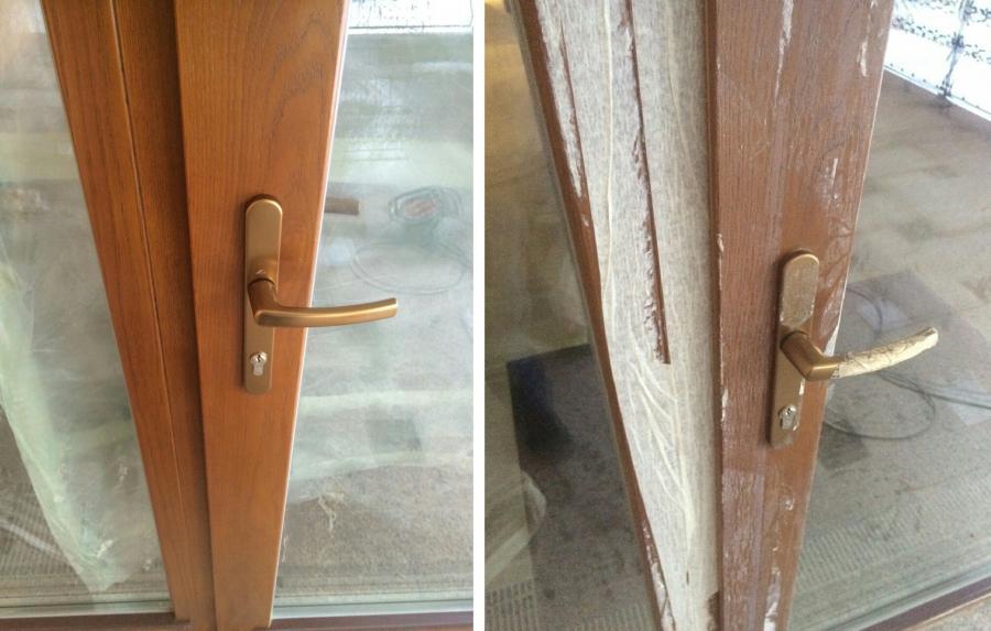 окно после и до реставрации