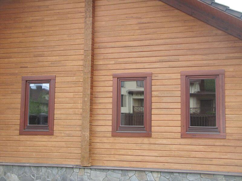 House made of wood, wooden windows, wooden frames 3
