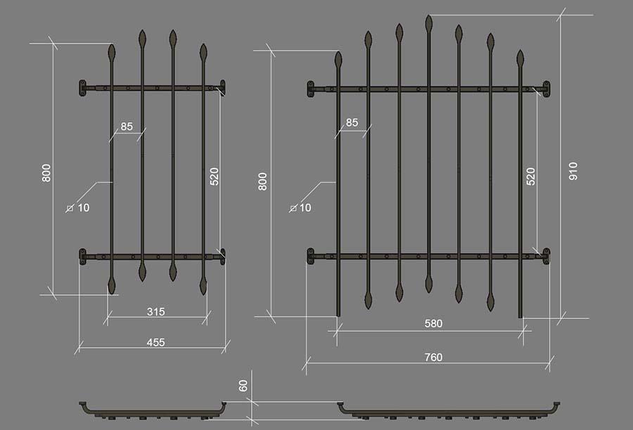 чертеж решетки для входной деревянной двери