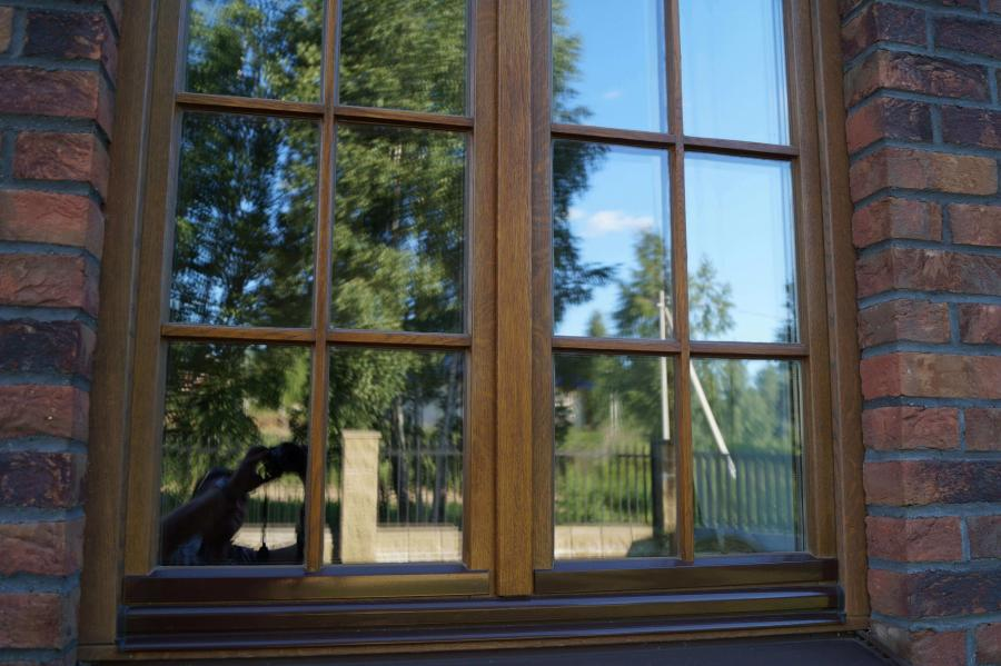 Дом в Колодищах с дубовыми окнами 5