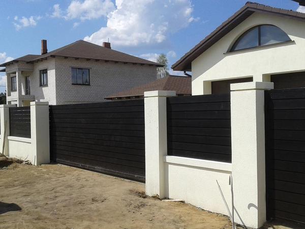 Забор и ворота из лиственницы 1