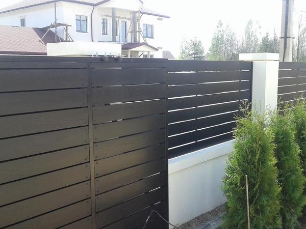 Забор и ворота из лиственницы 2
